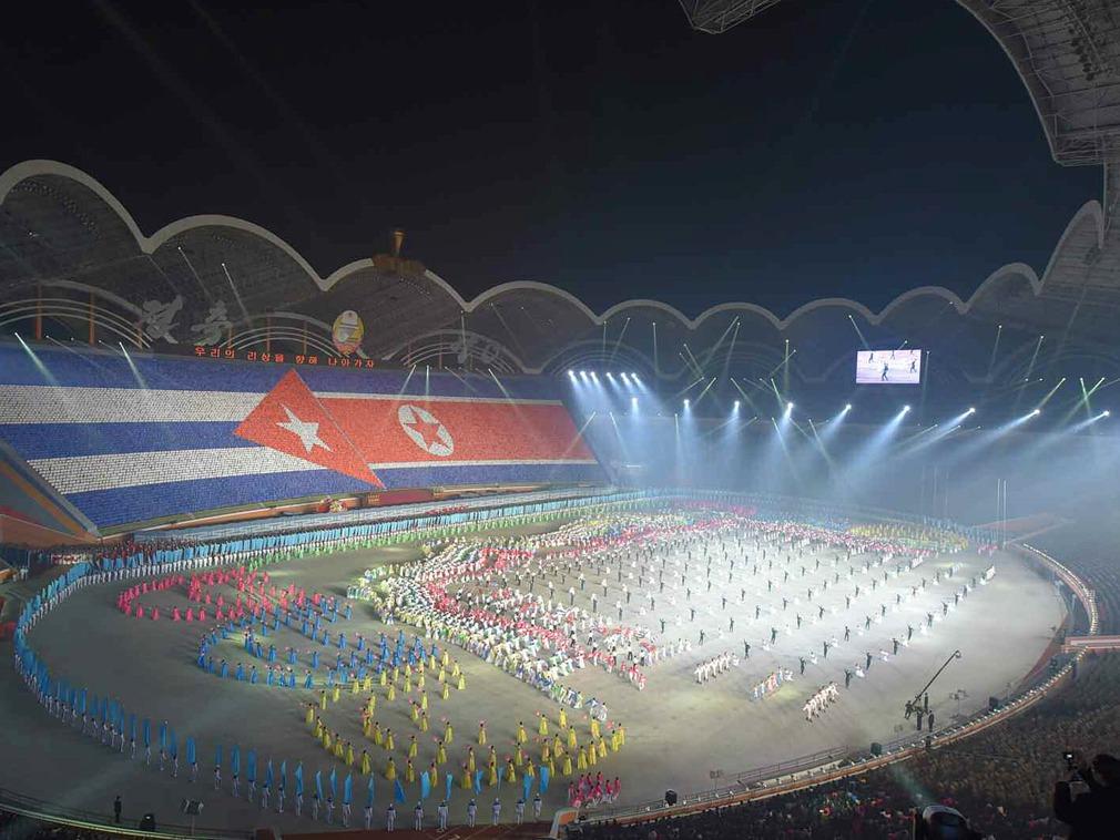 朝鲜表演现习近平肖像 待遇堪比金日成