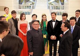金正恩接见中国明星照曝光 众星表情尴尬