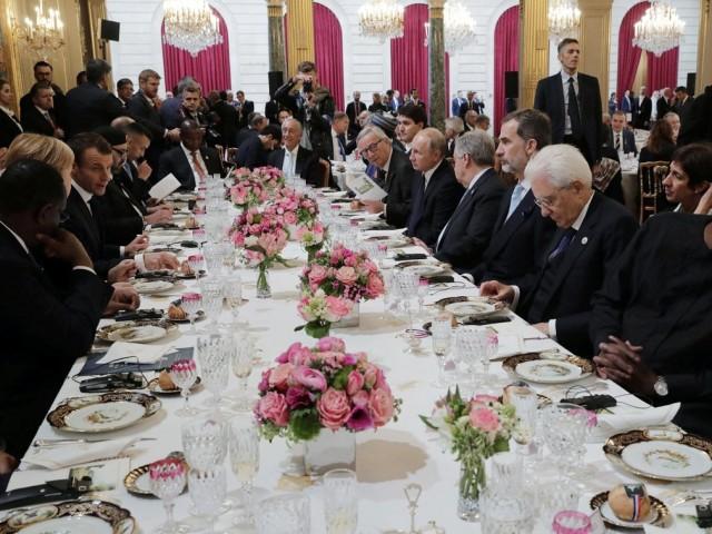 各国领导人爱丽舍宫午宴 川普普京同席