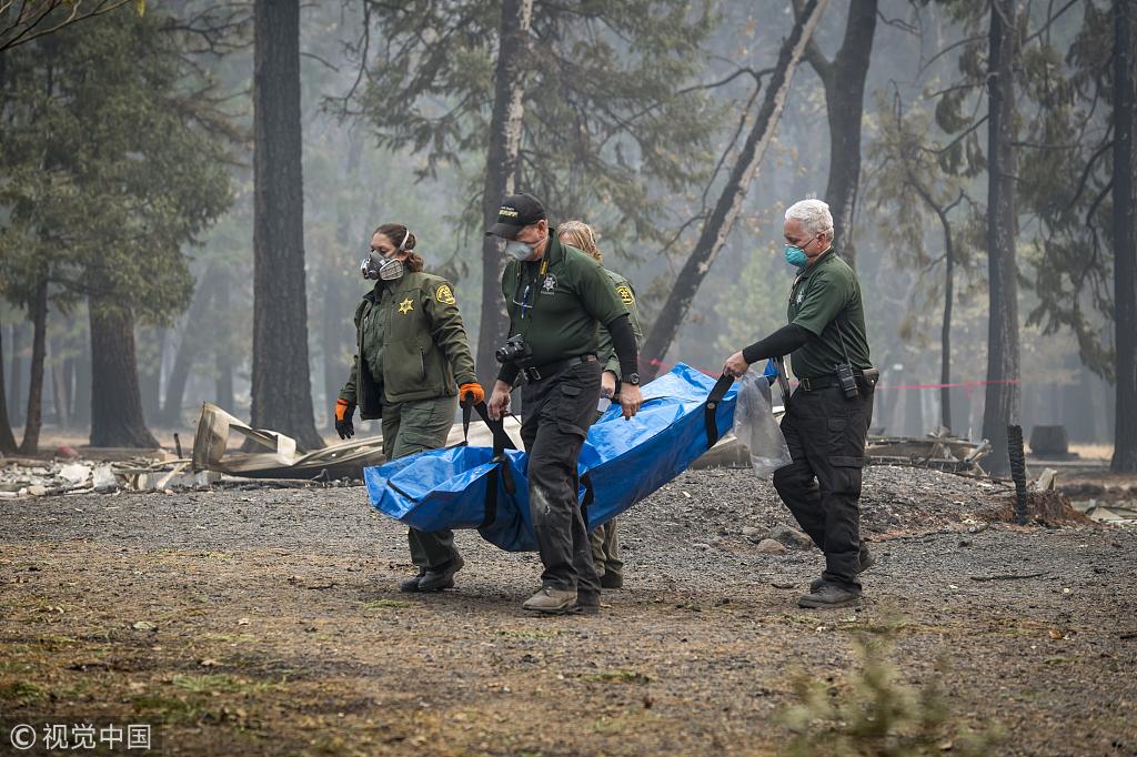 加州大火已致74死 川普将前往灾区