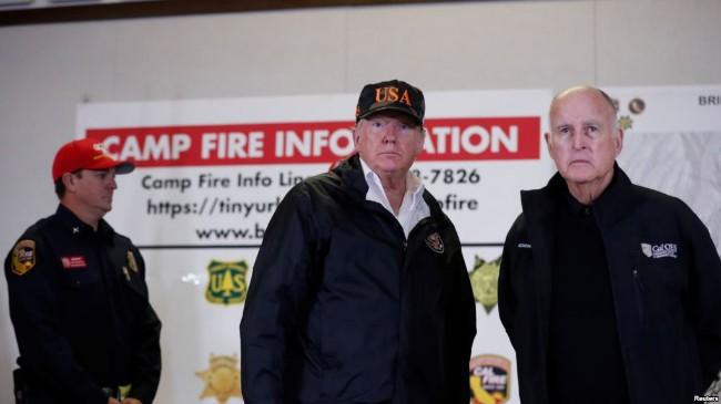 加州大火川普拨款资助获州长大赞
