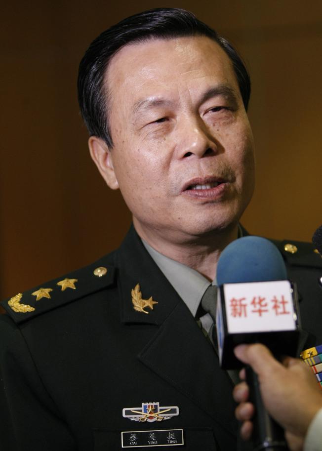 前南京军区司令蔡英挺。(新华社资料照片)