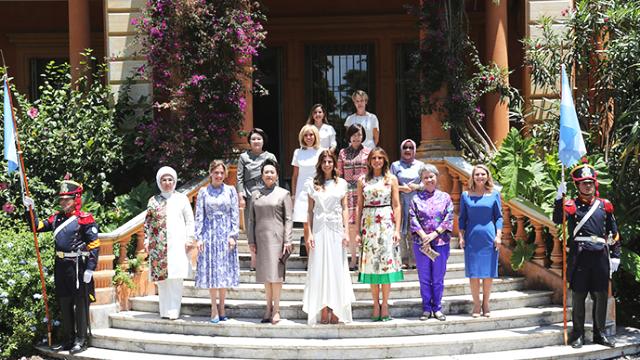 彭丽媛出席G20峰会配偶活动