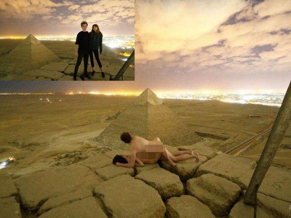 摄影师领女子攀金字塔干这事激怒埃及