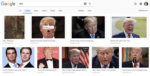 """搜""""蠢货""""为何总出现川普 谷歌这样解释"""