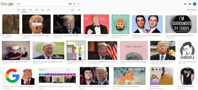 """搜""""白痴""""结果全是川普  国会拷问谷歌"""