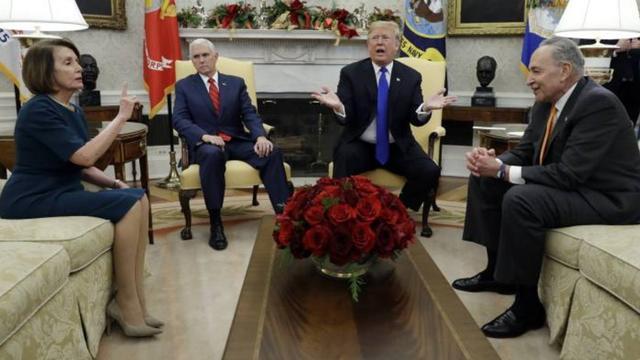极为罕见   川普与民主党高层激烈争吵