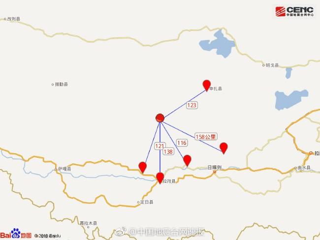 西藏日喀则发生5.8级地震