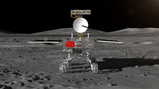 """中国""""嫦娥四号""""探测器登月。(Public Domain)"""