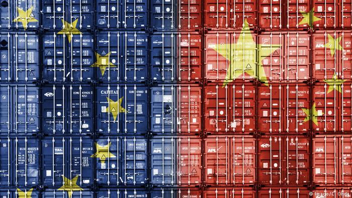 Symbolbild Handelsbeziehungen EU - China (Imago/C. Ohde)