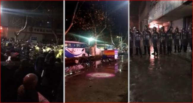 江苏过期疫苗民众抗议怒殴县官反遭镇压