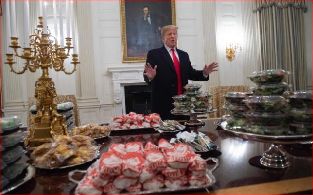 白宫厨师放无薪假 川普叫外卖待客