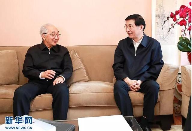 王沪宁罕见露面 上门看望了这4位老人