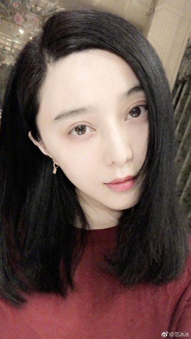 范冰冰晒自拍 微博送新年祝福