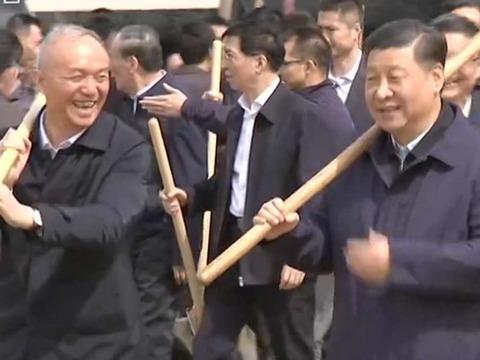 王岐山与中共六常委现身北京城市副中心