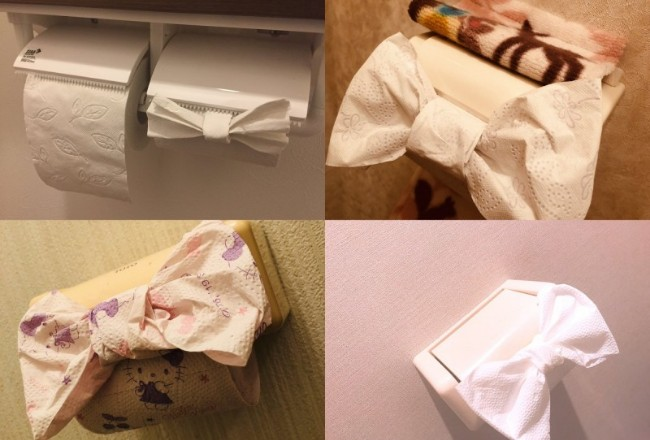 """日本兴起""""厕纸蝴蝶结""""热潮 结果被骂脏"""