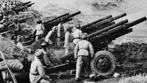1948年,林彪四野共军攻打锦州国军时的炮兵阵地。
