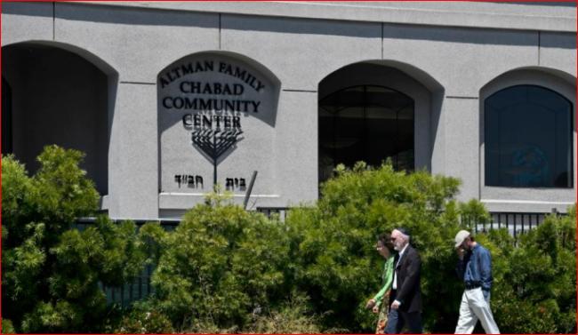 加州一犹太教堂突发枪击