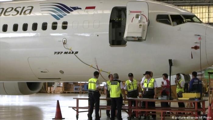 Indonesien Boeing 737 MAX 8 der Garuda Indonesia (picture-alliance/AP Photo)