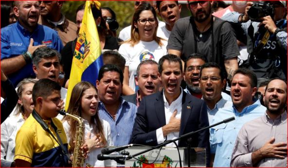 委内瑞拉局势焦灼 瓜伊多接触美国军方