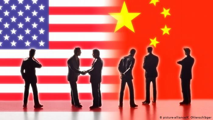 Symbolfoto Handelsbeziehungen zwischen USA und China (picture-alliance/K. Ohlenschläger)
