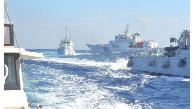 日议员偷赴钓鱼岛 被中国海警追击1小时