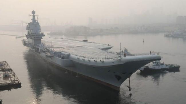 """中共""""国产航母""""油耗惊人 巡航4天必须返港"""