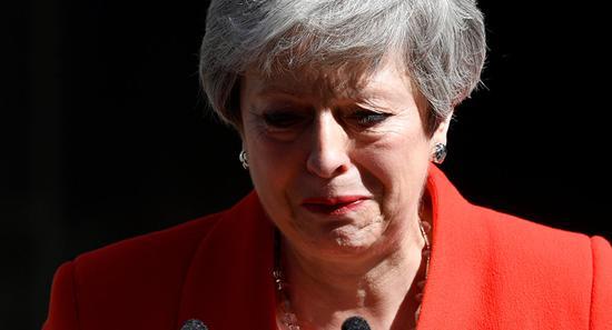 特雷莎・梅6月7日正式卸下保守党党魁一职