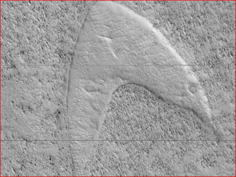NASA火星发现神秘图案