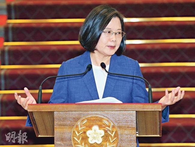 蔡英文支援香港游行10亿? 台府回应