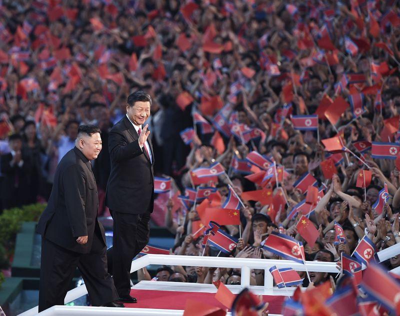 官媒镜头下的习近平出访朝鲜之行(高清组图)