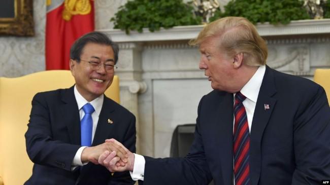 川普G20后访韩 与文在寅讨论朝鲜半岛去核问题