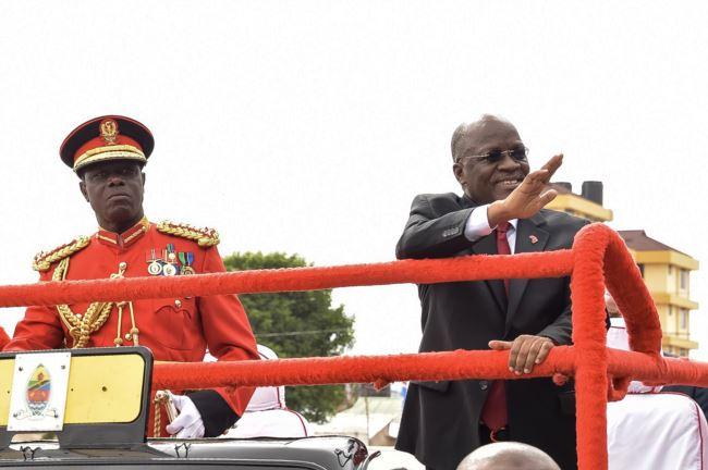 坦桑尼亚总统约翰・马古富利在2017年