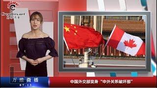 """中国外交部变身""""中外关系破坏部"""""""