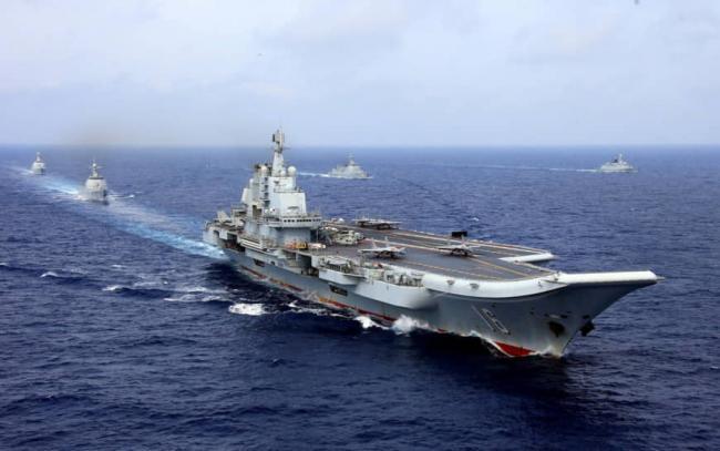 2018年4月辽宁号航母等舰只在西太平洋举行军事演习.jpg