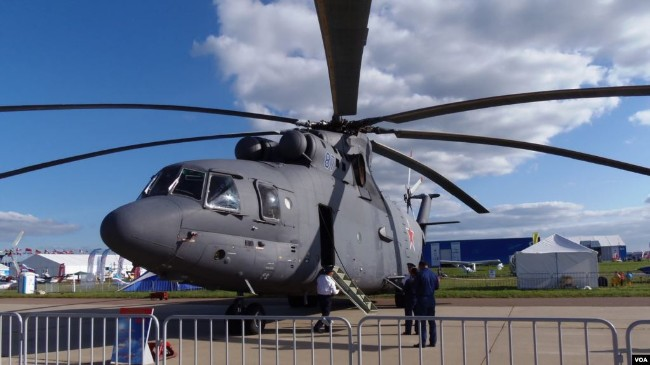 北极角逐加剧 俄把世界最大直升机投入北极