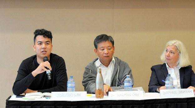加拿大挺香港的组织团体共同发声明谴责香港警察暴力行为,吁请加拿大政府发声。(主办方提供)