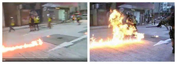央视11日在其官方微博发文,炮制港警被示威者投汽油弹烧伤的假新闻