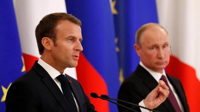 法国主办七国峰会在即 马克龙会晤普京