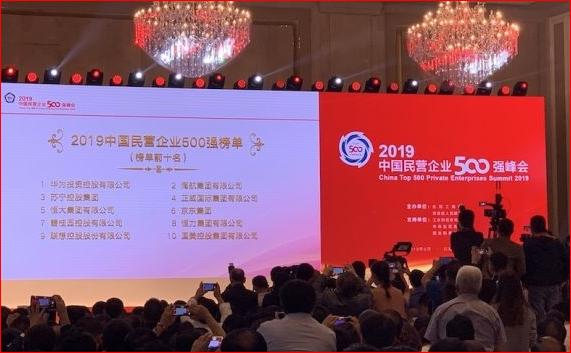 2019中国民企500强出炉 榜首毫无悬念