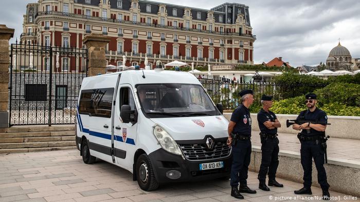 Frankreich Biarritz Sicherheitsvorkehrungen vor G7 Treffen (picture-alliance/NurPhoto/J. Gilles)
