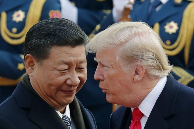 特朗普总统和习近平主席在北京(2017年11月9日)