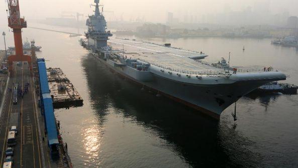 赶十一 中国自产航母传要交付海军了