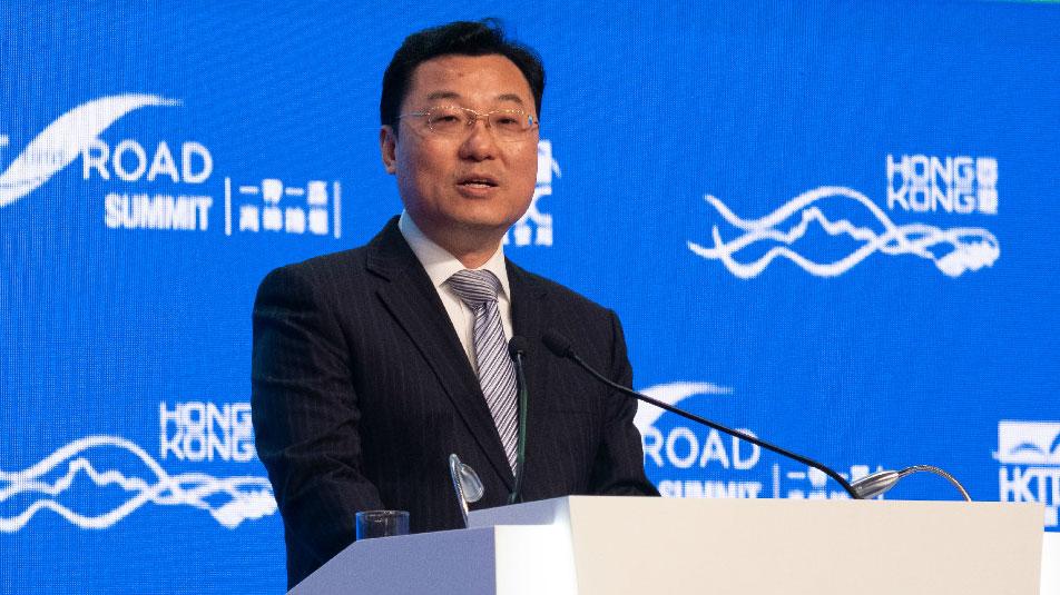 中国外交部驻香港特派员公署特派员谢峰。(图源:外交部驻港公署官网)