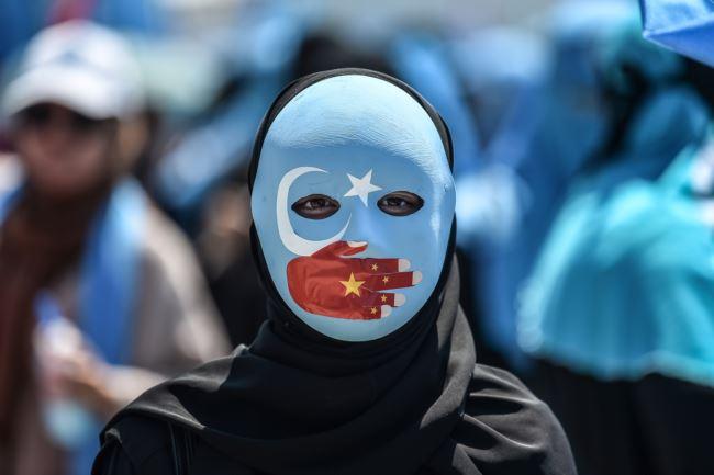 海外维吾尔人集会抗议北京的高压政策