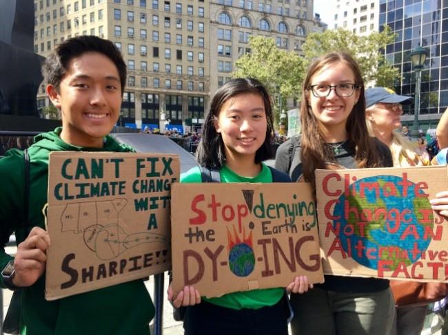 """学生停课  """"气候罢课""""纽约30万人参加"""