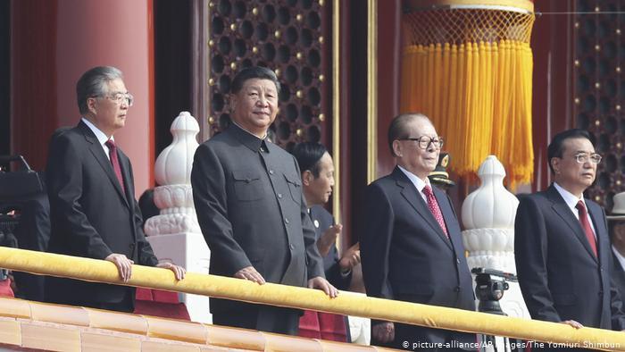 Peking Parade 70 Jahre Volksrepublik China Ansprache Xi (picture-alliance/AP Images/The Yomiuri Shimbun)