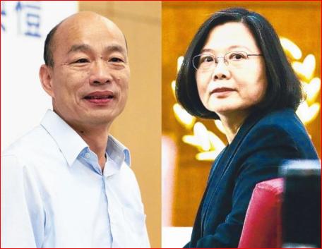 十一当天最新民调:蔡英文胜韩国瑜18.3%