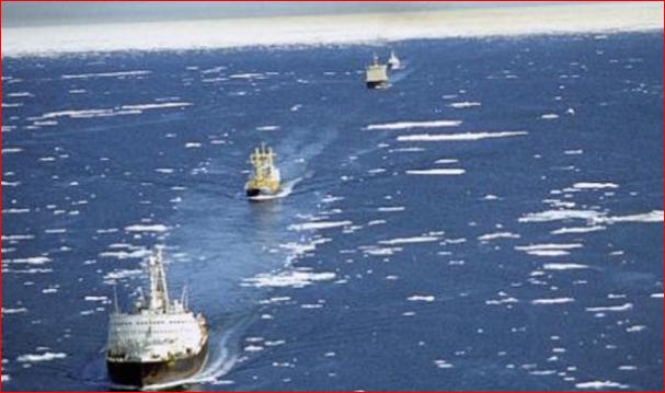 俄罗斯首次透过北极航线向中国发货