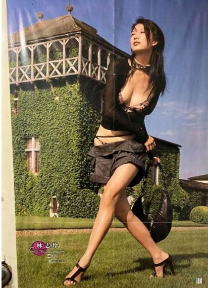 爆乳、裤子穿一半…林志玲绝版海报藏厕所
